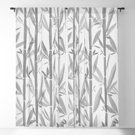 Bamboo Forest / Neutral Botanical Pattern Blackout Curtain