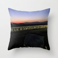 motorbike Throw Pillows featuring Motorbike Vision by Cassandra Evelyn