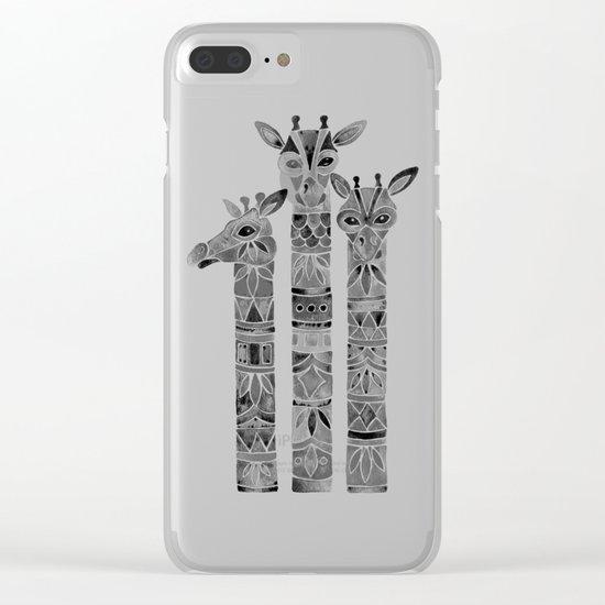 Black Giraffes Clear iPhone Case