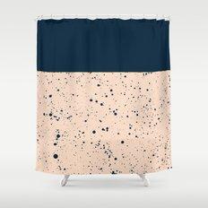 XVI - Dark Blue Shower Curtain