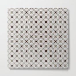 Grey Taupe White Pattern II Metal Print