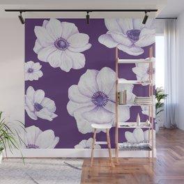 Anemones 2 Purple #society6 #buyart Wall Mural