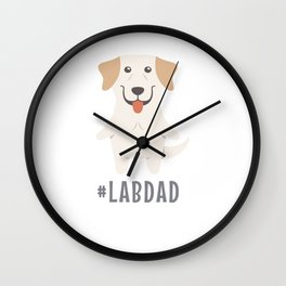 #LabDad Cute Labrador Gift Idea Wall Clock