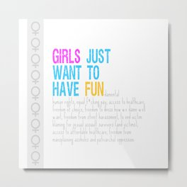 Girls Just Want To Have Fundamental Rights Metal Print