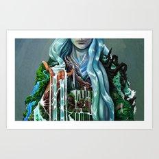 Water Comb Art Print