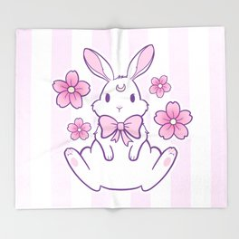 Sakura Bunny 02 Throw Blanket
