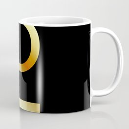 Zodiac and astrology symbol of the planet Pluto in gold colors- astronomical icon Coffee Mug