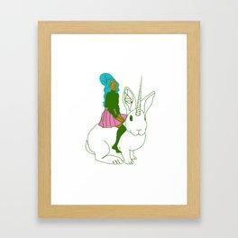 SOME BUNNY Framed Art Print