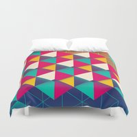 scales Duvet Covers featuring Scales  by sixsixtysix