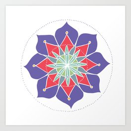 Purple Merrymaking Mandala Art Print