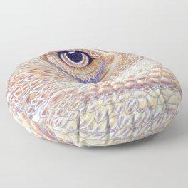 Dragon Star, Bearded Dragon Lizard Art Floor Pillow