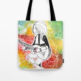Coloured Music Tote Bag