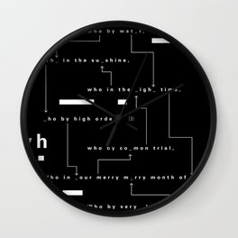 Who By Fire Wall Clock