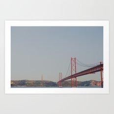 Across the Bridge Art Print