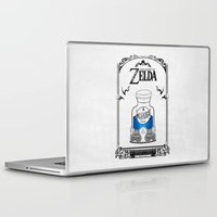 the legend of zelda Laptop & iPad Skins featuring Zelda legend - Blue potion  by Art & Be