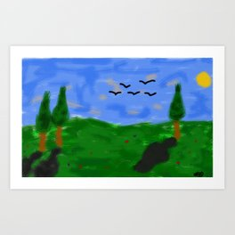 Landscape Paint Art Print