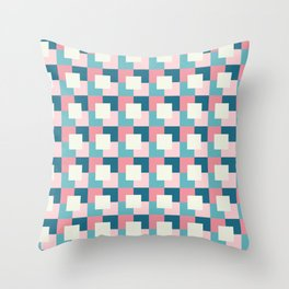 Abstract 3D Square Pattern Throw Pillow