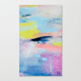 Dreamy Abstract pink Art  Canvas Print