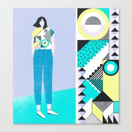 Pattern & Figure Canvas Print