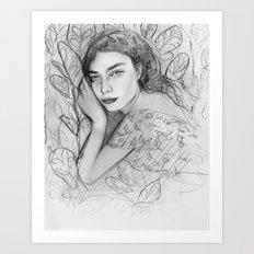 Stefania the Plant Whisperer Art Print