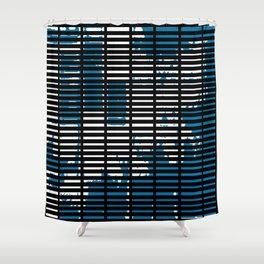 Shutters Grid Shower Curtain