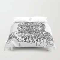 hemingway Duvet Covers featuring Hemingway by The New Minimalist