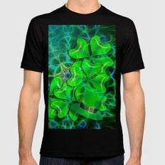 clover and kaleidoscope MEDIUM Mens Fitted Tee Black