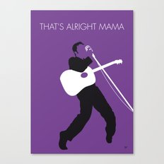 No021 MY ELVIS Minimal Music poster Canvas Print