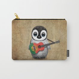 Baby Penguin Playing Portuguese Flag Acoustic Guitar Carry-All Pouch