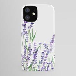 lavender watercolor horizontal iPhone Case