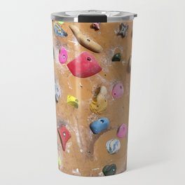 Wooden boulders climbing gym bouldering photography Travel Mug