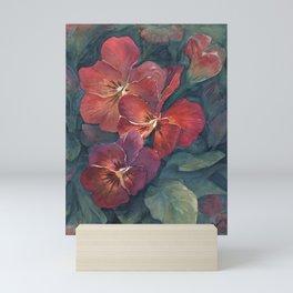 Pansies in the Twilight Mini Art Print