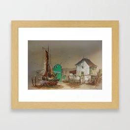 Sailing the Sea Serpent Sales Framed Art Print