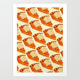 Pumpkin Pie Pattern Art Print