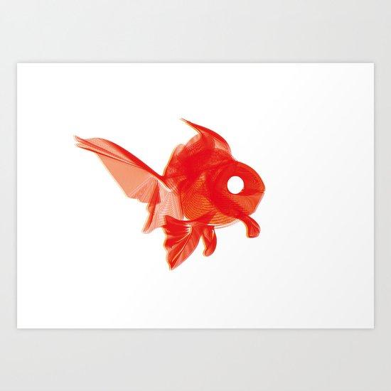 Moirè Goldfish Art Print