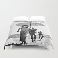 pablo picasso Duvet Covers featuring PABLO PICASSO AT BEACH by VAGABOND