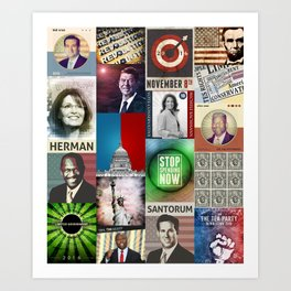 Conservatives Collage Art Print