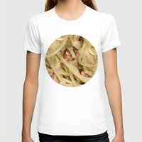 pasta T-shirts featuring Carbonara Pasta by Anand Brai