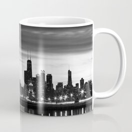 Chicago Skyline Black and White Coffee Mug