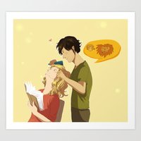 grantaire Art Prints featuring Enjolras et Grantaire by Sarlyne