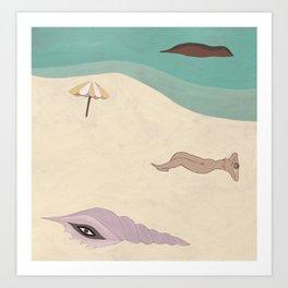 Creatures of the Beach Art Print