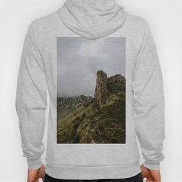 Foggy Mountaintop at Lost Mine Trail, Big Bend - Panoramic Hoody