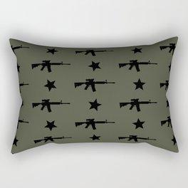M4 Assault Rifle Pattern Rectangular Pillow