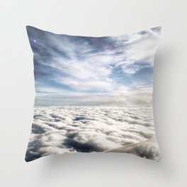 The Edge Between Sky and Space Throw Pillow