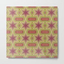 African Design - Star Multi Colors 2 Metal Print