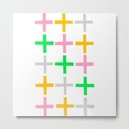 Fifteen Crosses Metal Print