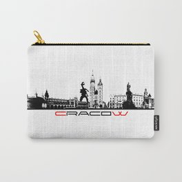 Cracow skyline black Carry-All Pouch