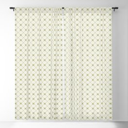 Earthy Green on Cream Parable to 2020 Color of the Year Back to Nature Polka Dot Grid Pattern Blackout Curtain
