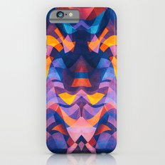 Abstract Surreal Chaos theory in Modern Blue / Orange iPhone 6s Slim Case