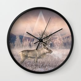 Stillness of Winter Wall Clock